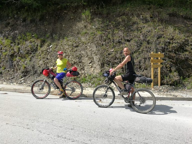 Close Fojnica, photo taken by Croatian bike friend Miro Zurič