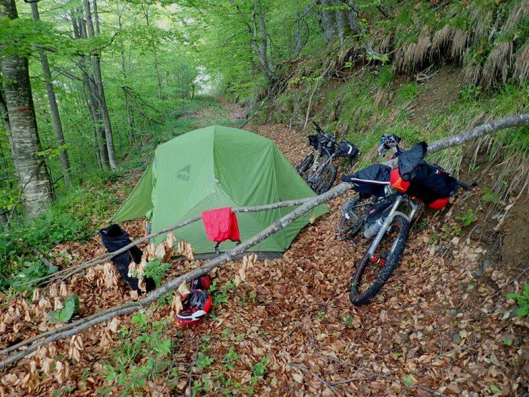 Emergency camp site in Vranica mountain