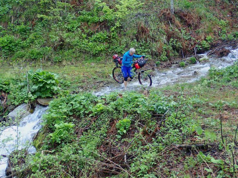 Route to mountain hut Pogorelica
