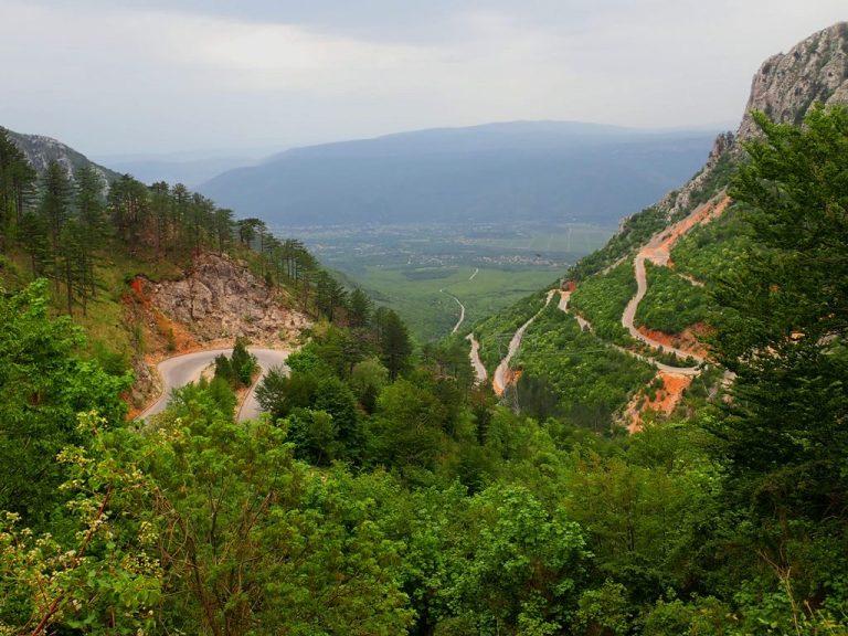 Route to Rujište pass