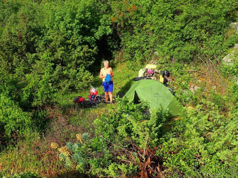 Čiro route camp site