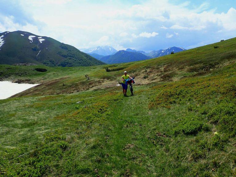 Hidden bike paths in Zelengora mountain