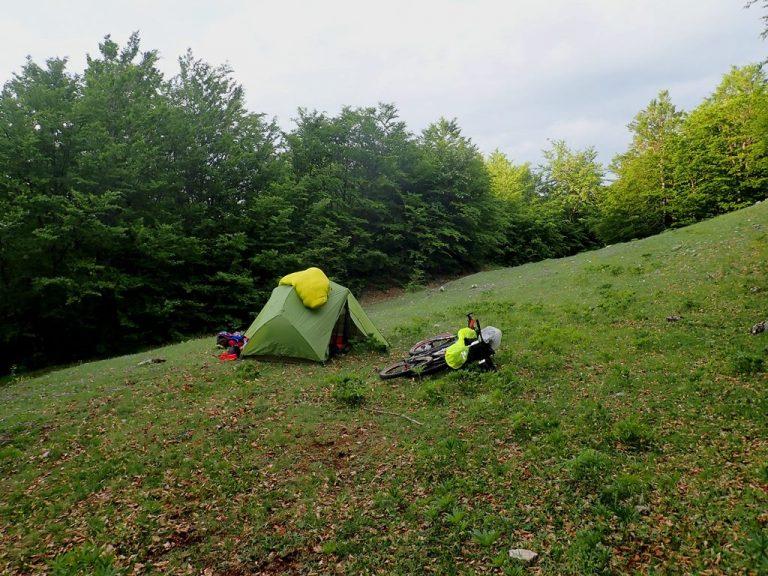 Last night camp site in Treskavica mountain