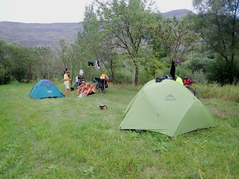 Our camp site in plum orchard.