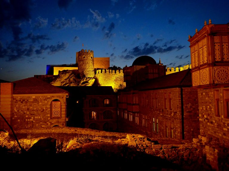 Rabati castle in Akhaltsikhe, called the symbol of tolerance, there is a Church, a Mosque, a Minaret and a Synagogue.