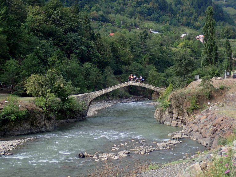 Dandalo bridge - stone arch bridge over Ajaristskali river dated to the 9th century.
