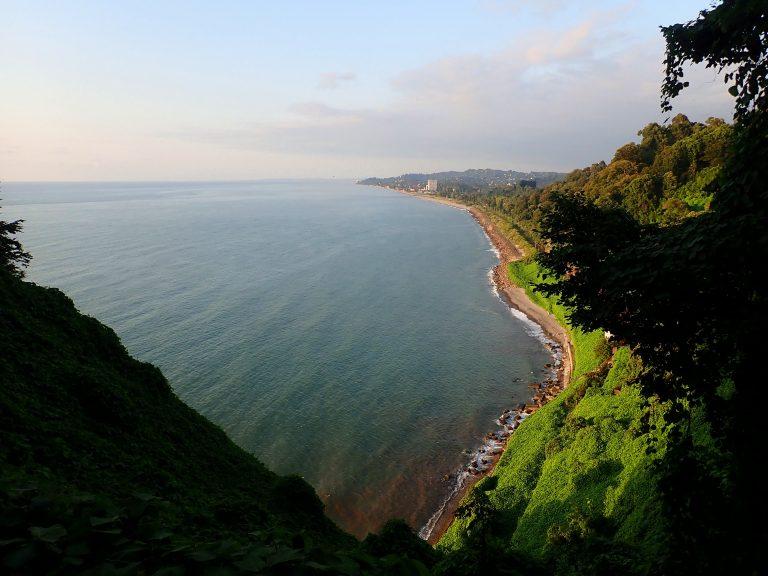 Black Sea coast from the Batumi Botanical Garden.