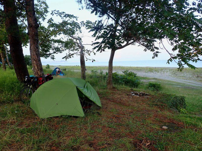 Wild camp site under the Botanical Garden.