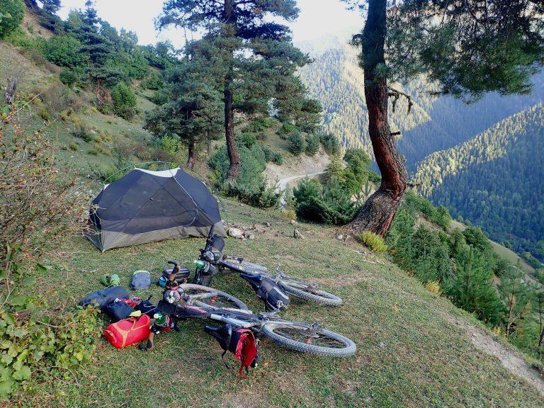 Camp site above Leli village.