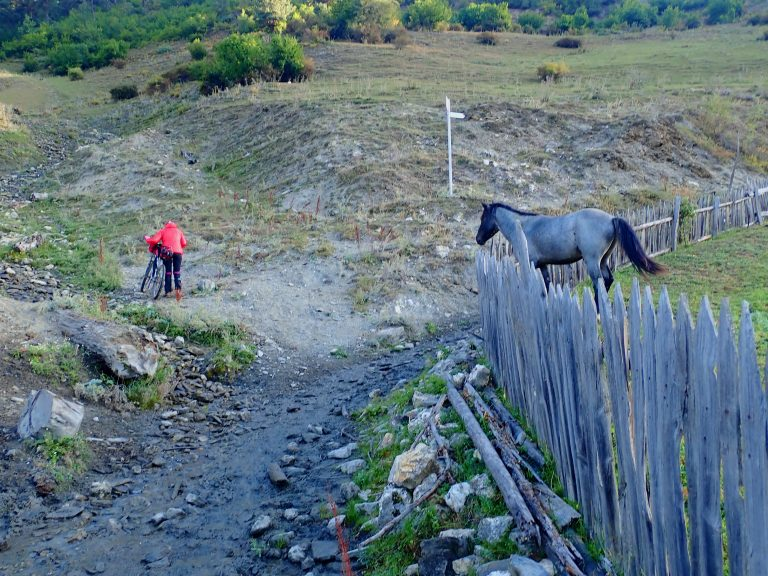 Hike & bike section after Leli village.