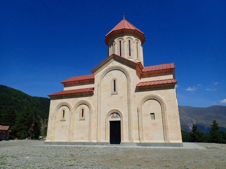 Newly renovated Tsvirmi church.