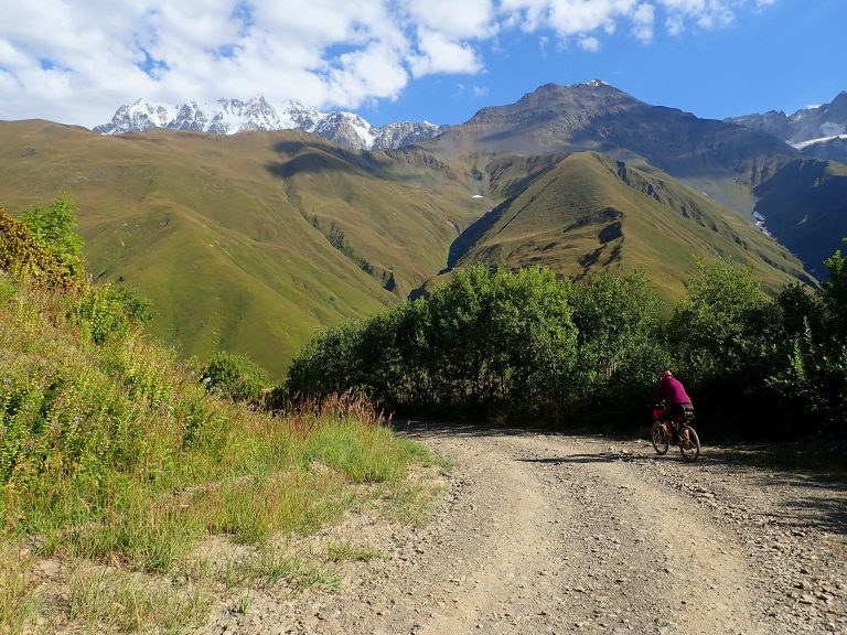 Long descent to Lower Svaneti, dirt road and luckily no traffic.