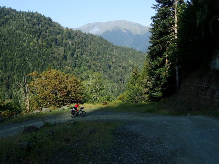 Climbing on gravel, rocky, tippy and bumpy road