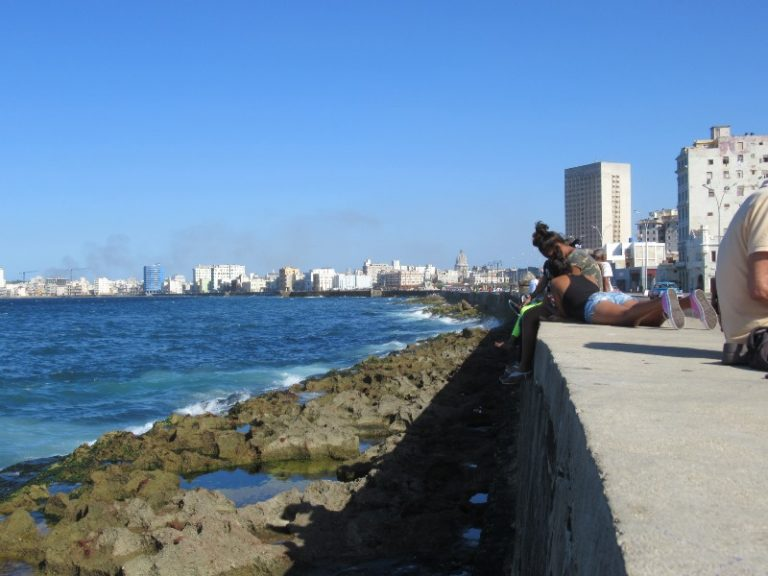 Havana, El Malecon, the  world longest settee :)
