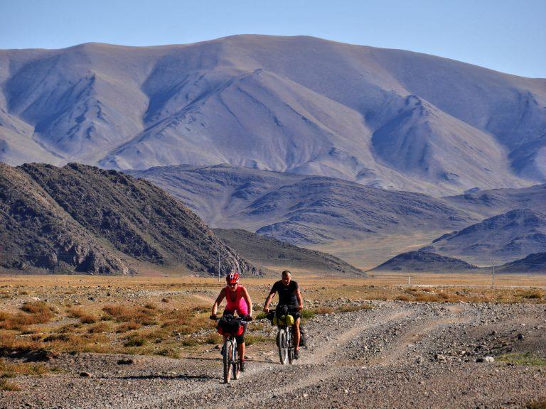 Through the arid semideserts at 2 000 m high.