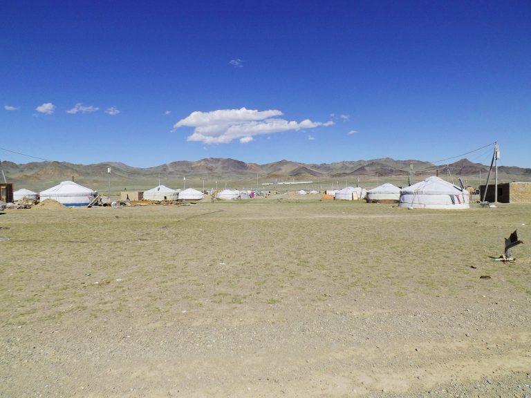 The suburb of western Mongolia's capital - Bayan Ulgii.