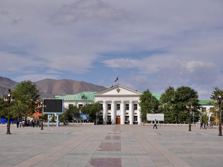 Bayan Ulgii central square.