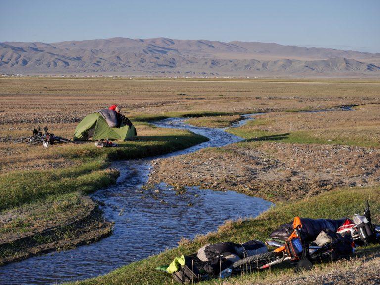 Campsite is always wild in Mongolia.