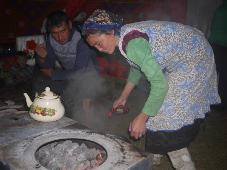 The hospitable locals immediately invited us to the yurt and