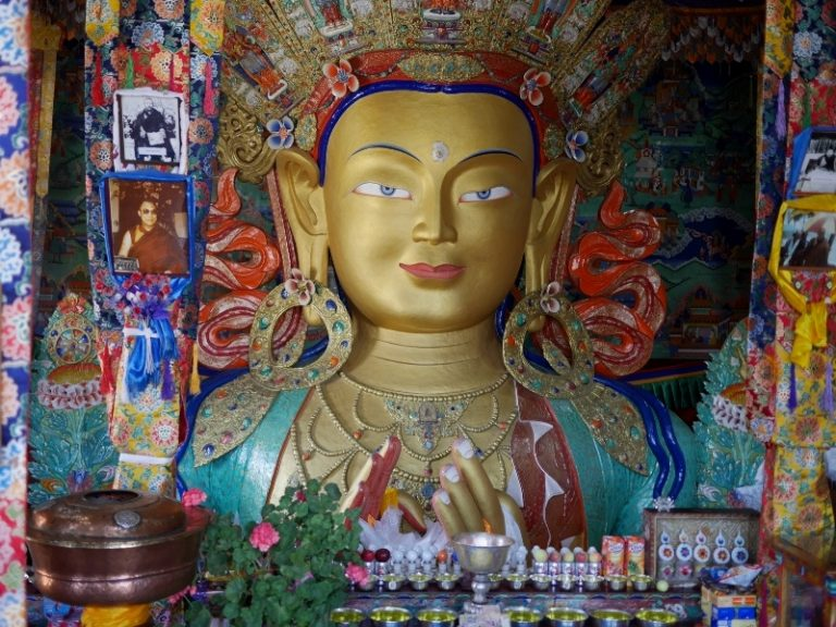 Maitreya Buddha is according to Buddhist tradition a Buddha who will appear on Earth in the future.