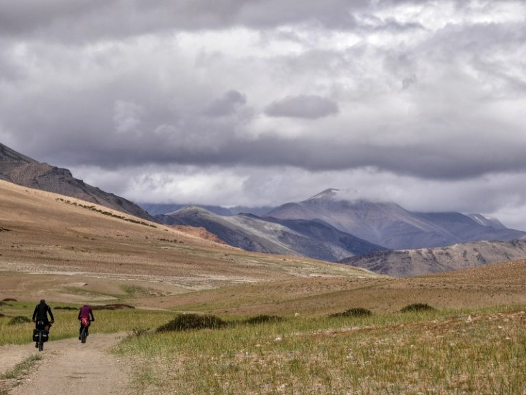 Cloudy and windy day on Morain Plain close to Tso Kar lake.