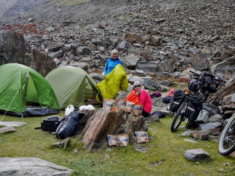 Shingo La base camp - great and only place for tents, drink water included.