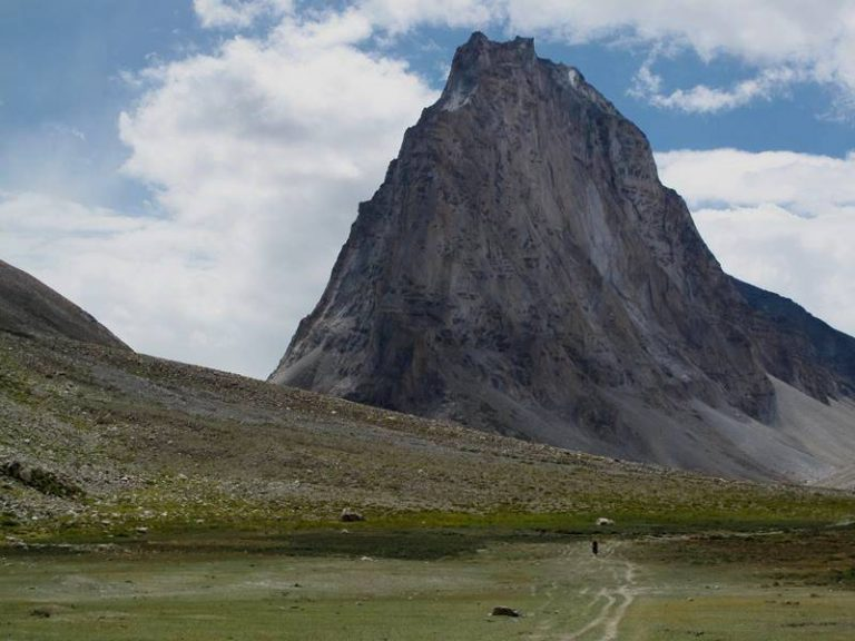 Gumbarajon Peak (6 000 m), granite monolith, considered by locals as naturally formed monastery.