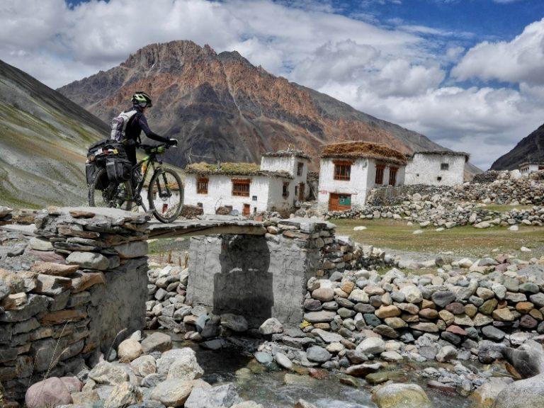 Kargyak, first permanently settled village in upper Zanskar.
