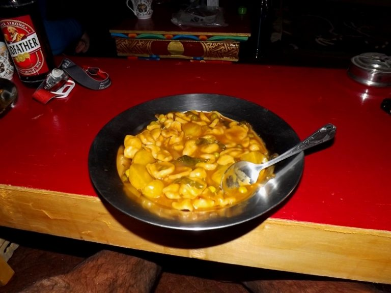 Special Zanskari soup, yum-yum :)