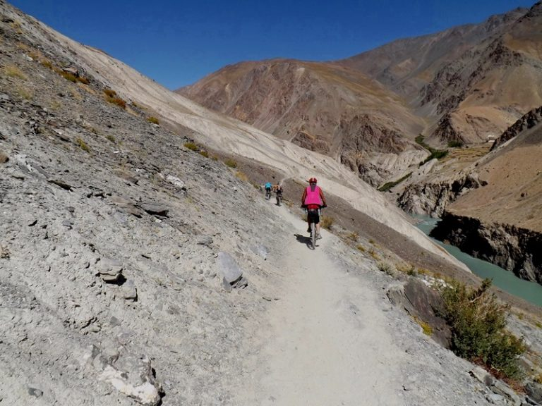 Continue on world highest singletrail ...