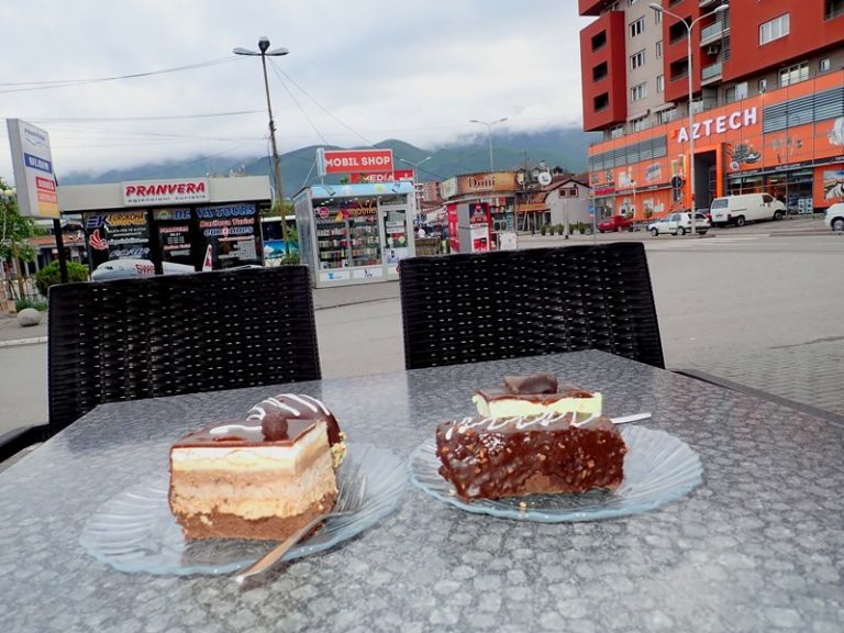 The only one enjoyment in rainy day :) Peje city, Kosovo.
