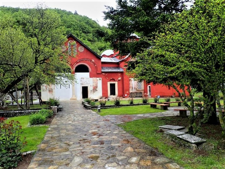 The Monastery of the Patriarchate of Peje, one of the most important and oldest Serbian Orthodox centers. UNESCO heritage under the constant KFOR protection.