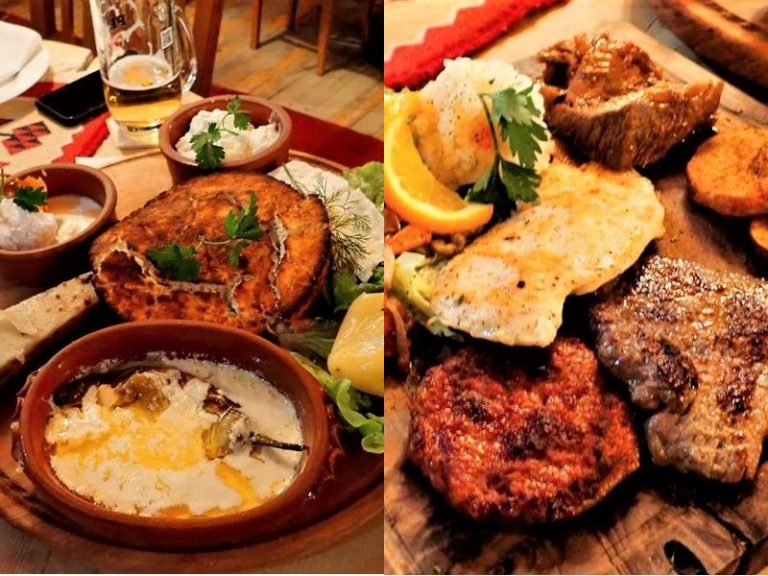 Delicious gastronomy of Kosovo, traditional food.