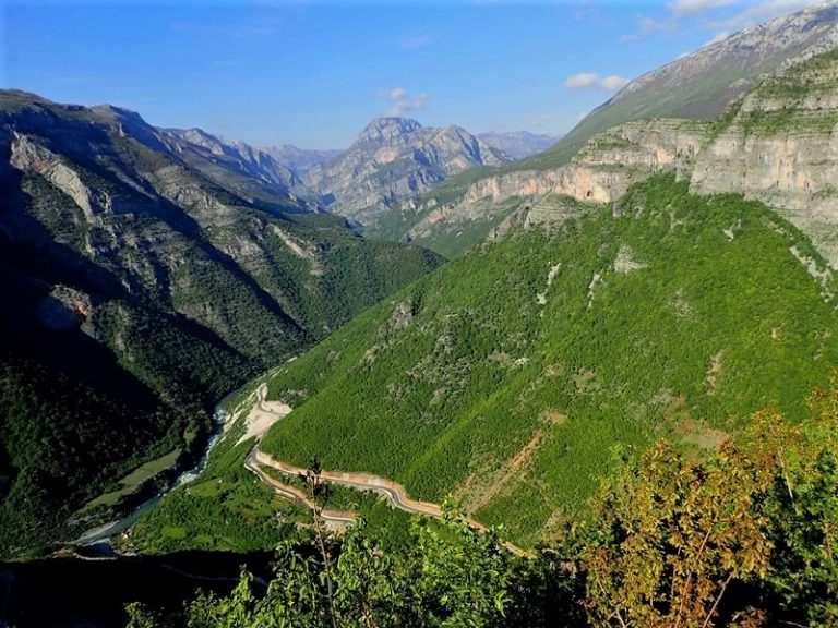 Kelmend valley arround Cem river (Albania).