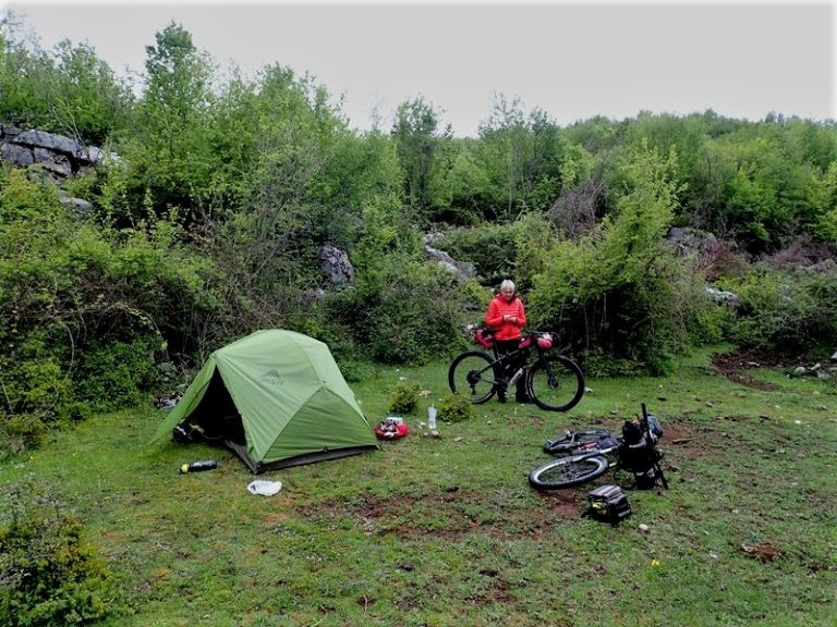 Wild campsite close Bratosh village on the shortcut to Boge valley.