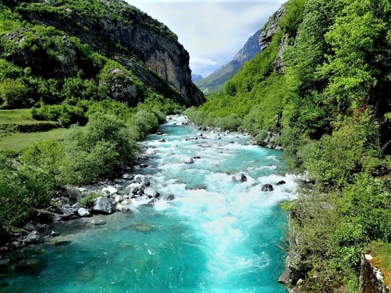 Shala river is famous for its crystal clear water, azure color, and delicious river trout.