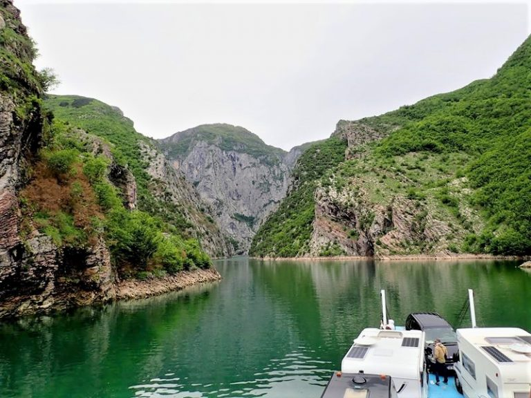 The largest lake in Albania, its 40 bays reminds Norwegian fjords.