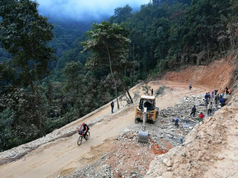 Hard, but most desirable job in Nepal after 2015 earthquake  - to be a road worker.
