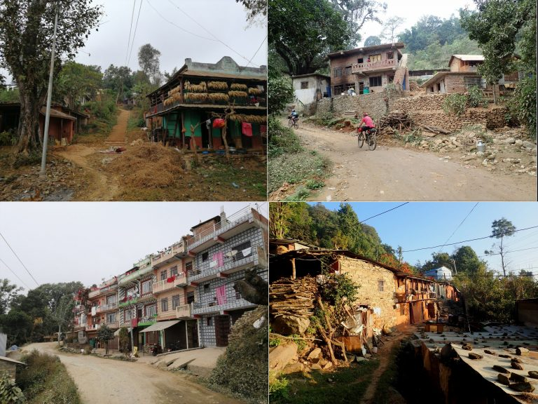Villages around old jeep road on the way to Gorkha.