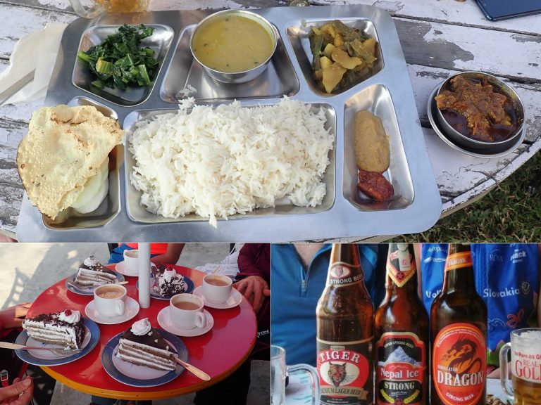 Half rest day in Gorkha: traditional Dal bhat (better ask for not spicy), coffee (better ask for strong) and great selection of very good Nepali beer (don't worry it is strong enough).