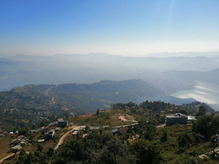Sometimes it's nice to stop and turn back - Pokhara and Phewa Lake from a bird's eye view.