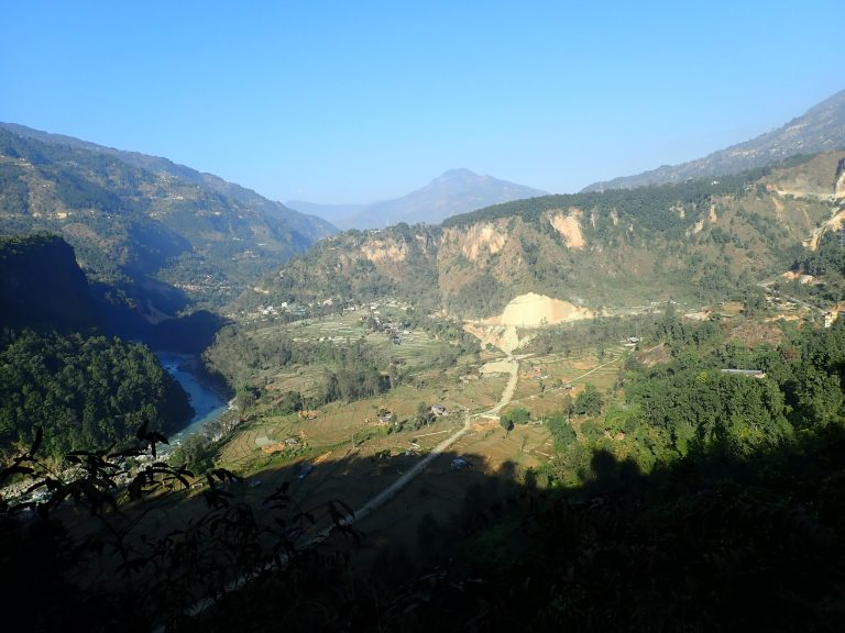 First view to Kali Gandaki valley where Annapurna circuit starts and will continue the following days...