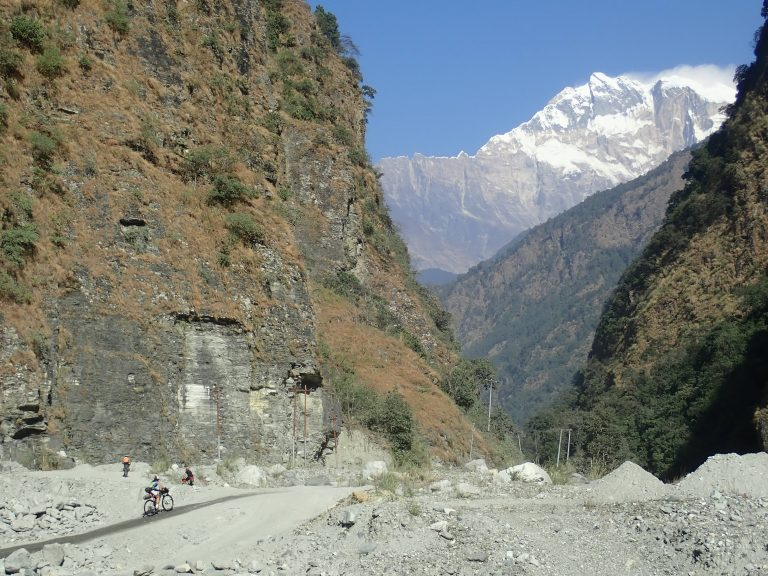 We all agreed clockwise ride was very good choice. Climbing starts in Beni on the banks of the sacred river Kali Gandaki and