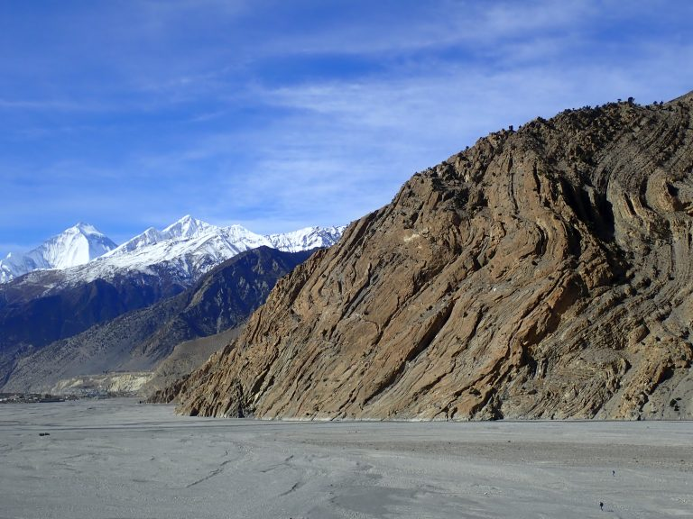 Jomsom plain at 2600 - 2800 m.