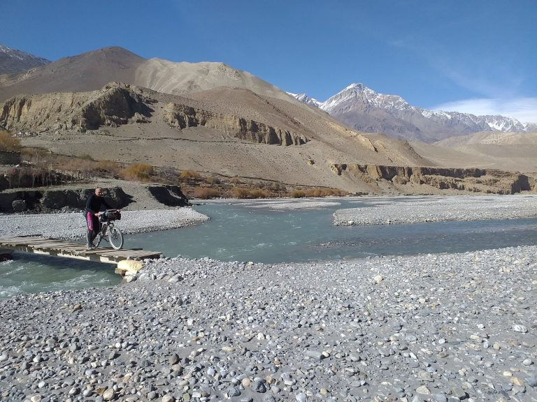 """3 days straight and then right :) "" - we are just exactly here! We leave the sacred Kali Gandaki river and continue up the Thorong Khola river on its left side."
