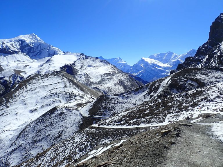 The valley views became dominated by Annapurna III and Gangapurna, towering in the distance.