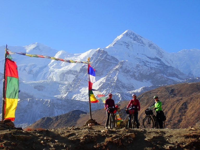 Another great Day! Annapurna III (7 555 m) and Gangapurna (7 455 m).
