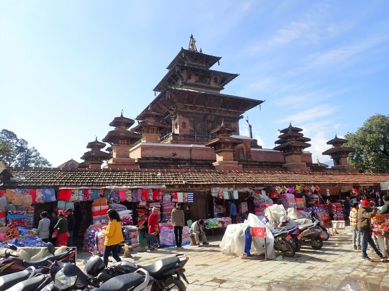 Durbar Square, view from Indrachawk - oldest, liveliest and bustling market.