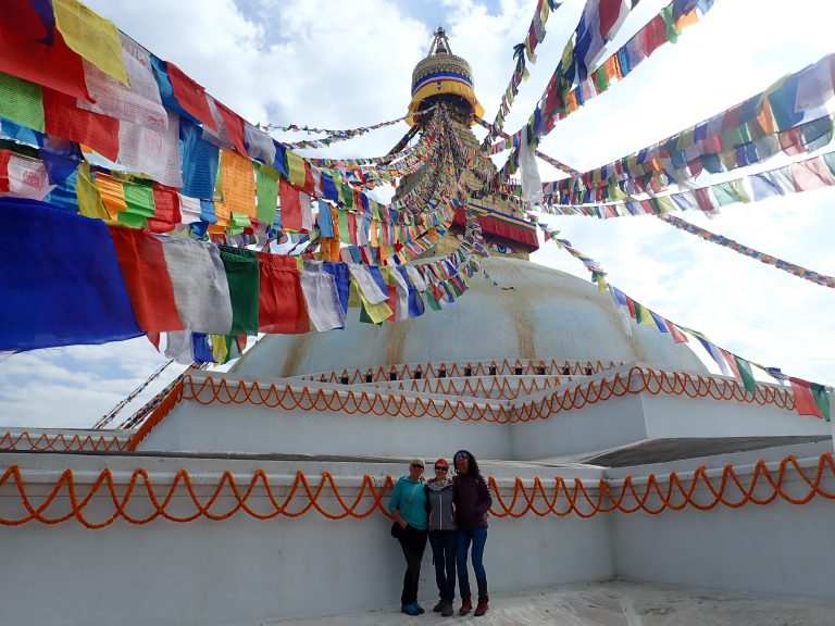 "Boudhanath is one of the largest unique structure's stupas in the world. Nice place to say: ""Bye-Bye Nepal!"""