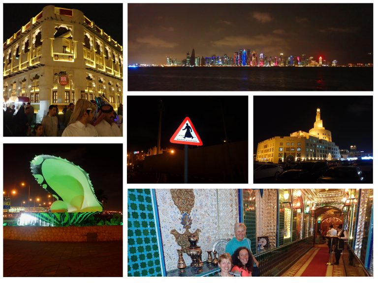 Thanks to delay Qatar airlines fly we spent one night in Doha - nice extra bonus to our trip!